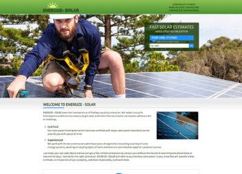 Web Design for Solar Panel Company
